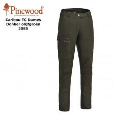Pinewood Broek Caribou TC 3085 Dames Donker Olijfgroen
