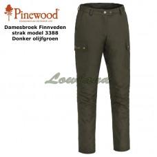 Pinewood Broek Finnveden Tight 3388 Dames Donker Olijfgroen