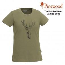 Pinewood T-Shirt Red Deer Dames 3038