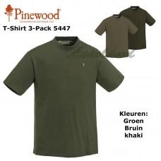 Pinewood T-Shirt 3 Pak 5447