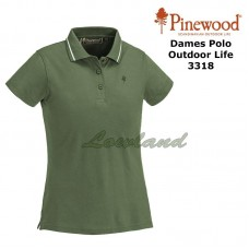 Dames Polo Shirt Outdoor Life 3318 middengroen