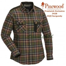 Pinewood Shirt Prestwick Exclusive Dames 3428 Donkerolijf/Donker burgundy