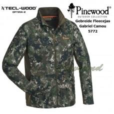 Pinewood Gebreide Fleece Jas Gabriel Camou 5772 maat S