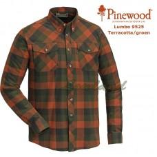 Pinewood Shirt Lumbo 9525 Terracotta/Groen
