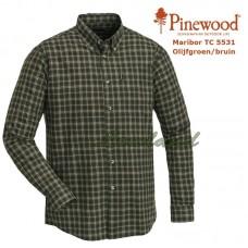 Pinewood Shirt Maribor TC 5531 Olijfgroen/Bruin