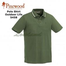 Pinewood Polo Shirt Outdoor Life 5458 middengroen
