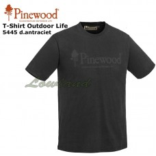 Pinewood T-Shirt Outdoor Life 5445 Donker Antraciet